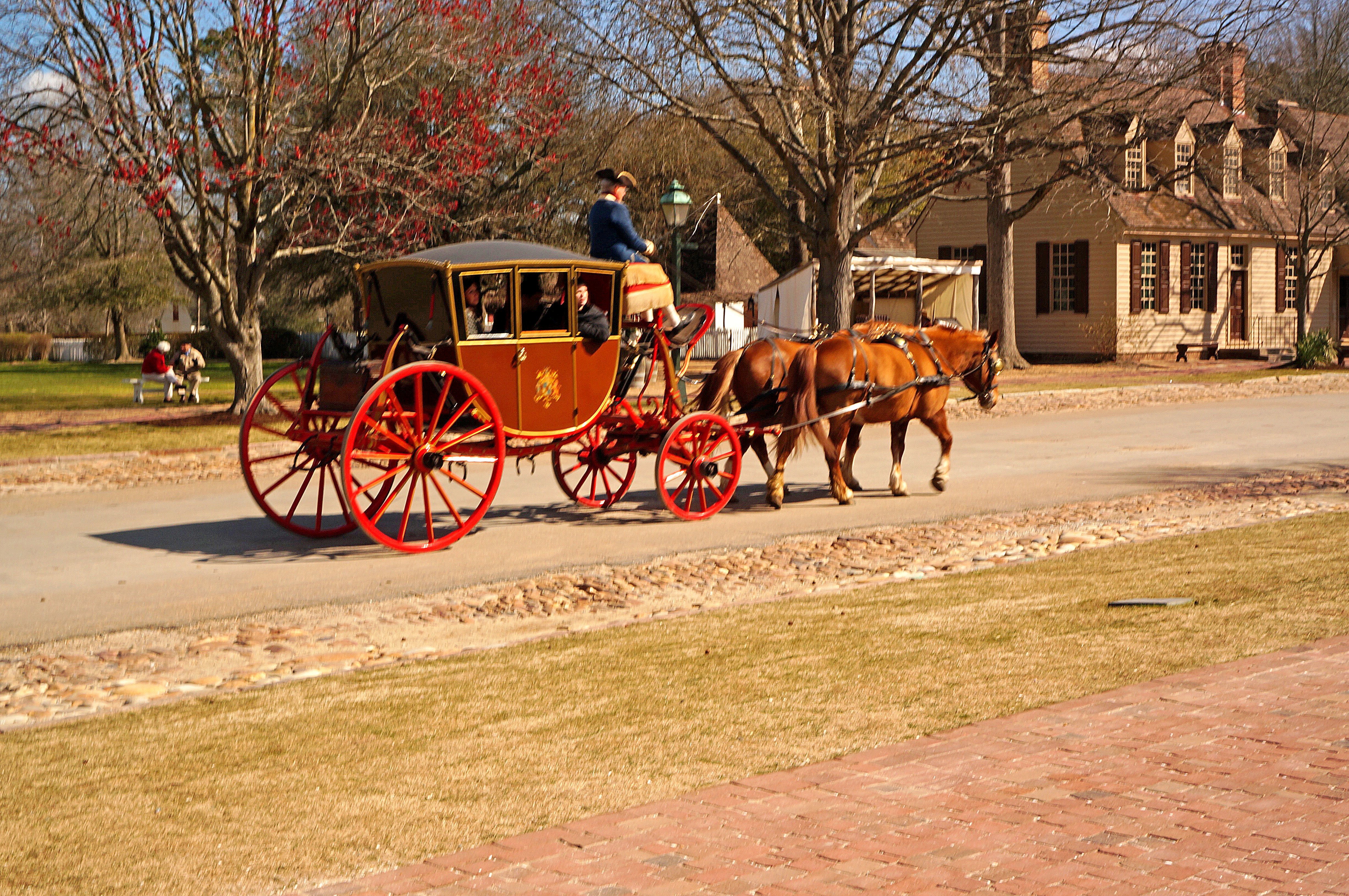 Carriage in Colonial Williamsburg