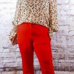 Red Pants and Animal Print top